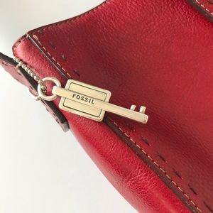Fossil Bags - Fossil Red Leather Tote